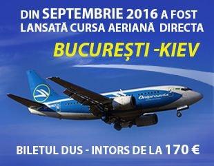 Сursa aeriană directă Bucuresti - Kiev