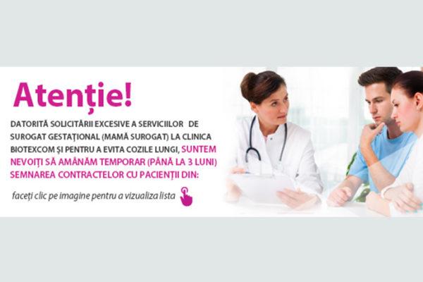 Datorită solicitării excesive a serviciilor de surogat gestațional la clinica Biotexcom